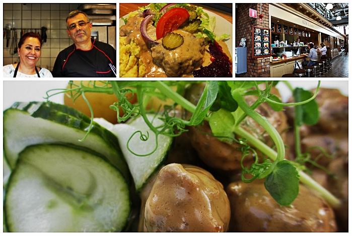 Das Kök & Bar von Amir in den Saluhallen von Göteborg: Seine Spezialität sind schwedische Köttbullar nach eigenem Geheimrezept.