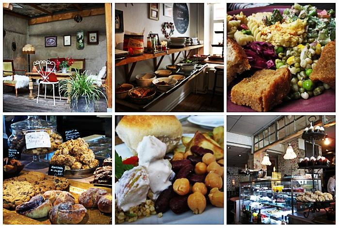 Die Mittagsmenüs bieten Salatbuffets mit Brot, eine Hauptspeise, Wasser und Kaffee für einen guten Preis.
